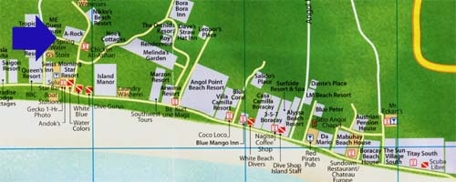 map a rock beach resort